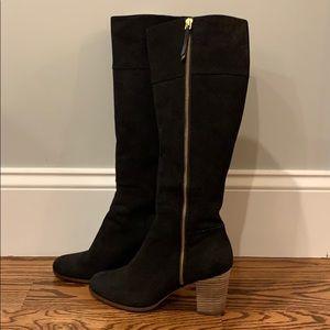 Cole Haan Black Suede Boots!